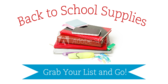 Back to School Hunt for Supplies Sale Sign
