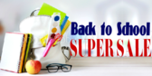 Back to School Super Sale Sign