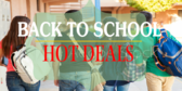 Back to School Hot Deals Sale Sign