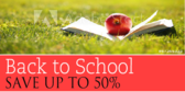 Back to School Apple Book Sale Sign