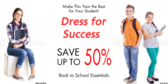Back to School Sale Dress for Success Sign