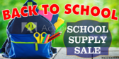Back To School Office Supplies Sale Banner
