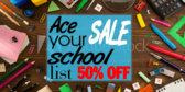 Back to School Ace List Sale Sign