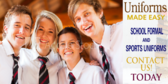 Back to School High School Uniforms Sale Banner