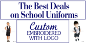 Back to School Custom Uniform Sale Banner