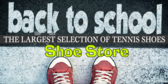 Back to School Tennis Shoe Sale Banner