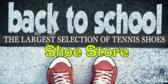 Back to School Tennis Shoe Sale Banner