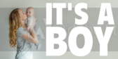 It's A Boy Collage Banner