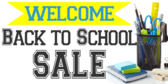 Back to School Best Offers Sale Sign