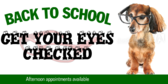 Back to School Eyeglasses Sale Banner