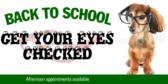Back to School Eyeglasses Sale Banner
