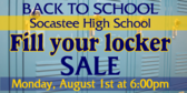 Back to School Locker Supplies Sale Banner
