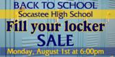 Back to School Locker Supplies Sale Banner