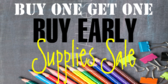 Back to School Buy One Get One Sale Banner