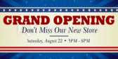 Grand Opening New Store Banner