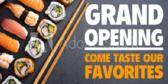 Grand Opening Sushi Restaurant Banner
