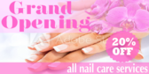 Grand Opening Nail Salon Banner