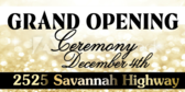 Grand Opening Black Tie Banner