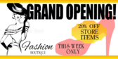 Grand Opening Boutique Banner