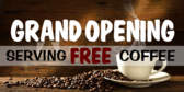 Opening Coffee Shop Banner