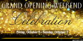 Grand Opening Weekend Banner
