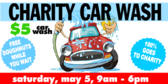 Car Wash Charity Announcement Banner Design