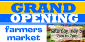 Grand Opening Market Banner