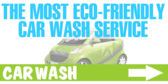 Eco Friendly Car Wash Green Banner Design