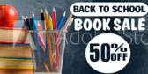 Back to School Book Sale Banner