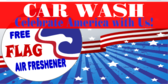 Car Wash Patriotic Banner