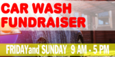 Car Wash Fundraiser Announcement Banner