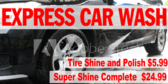 Car Wash Express Pressure Banner