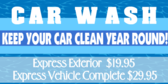Car Wash Express Cleaning Banner
