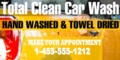 Car Wash Appointment Service Banner