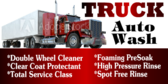 Car Wash Medium to Large Truck Banner
