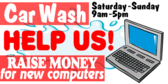 Car Wash Help Raise Funds Ad Banner