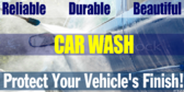 Car Wash Brushless Self Serve Banner