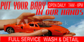 Car Wash Full Service Facility Banner