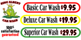 Car Wash Auto Cleaning Price Banner