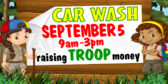 Car Wash Girl Scout Event Banner