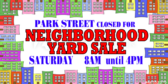 Garage Sale Townhome Neighborhood Street Banner
