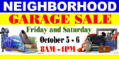 Yard Sale Neighborhood Banner