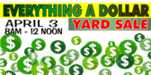 Yard Sale Only a Dollar Banner