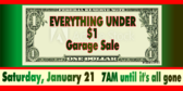 Garage Sale Only a Dollar Banner