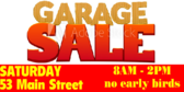 Garage Sale with Address