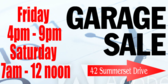 Garage Sale Announcing the Time Design