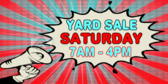 Yard Sale Megaphone Sign