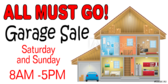 Garage Sale House Themed Signage