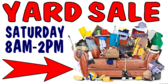 Yard Sale Junk Theme sign
