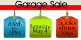 Garage Sale Tag Design